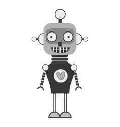 happy robot toy vector image