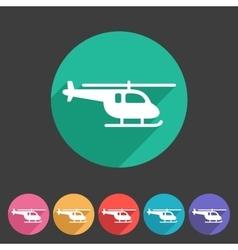 helicopter icon flat web sign symbol logo set vector image