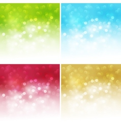 Holiday bokeh abstract christmas background vector