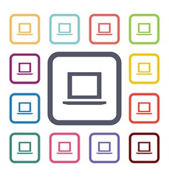 laptop flat icons set vector image vector image
