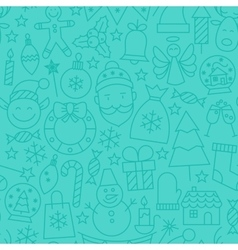 Line new year tile blue pattern vector