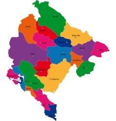 Montenegro map vector image