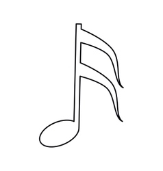 musical note melody symbol outline vector image