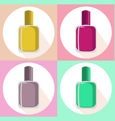 Nail polish set icon template colorful vector