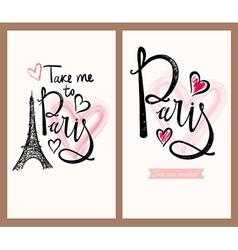 Paris labels vector