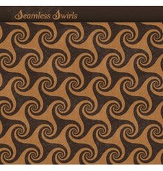 Seamless pattern with spirals swirls vector image vector image