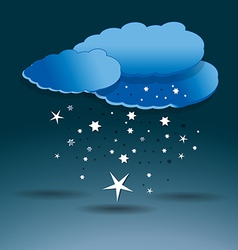 Snow clouds vector image