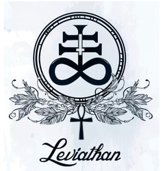 The Satanic Cross symbol illsutration vector image vector image
