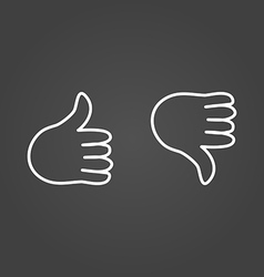 Thumb up icons draw effect vector