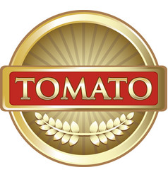 Tomato gold icon vector