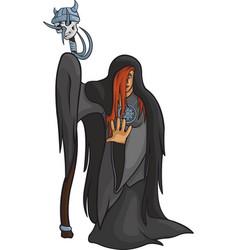 viking girl priest vector image