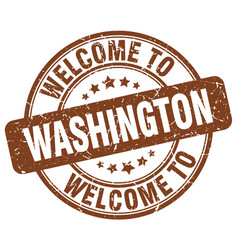 Welcome to washington brown round vintage stamp vector