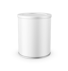 Tin can for powder milk vector