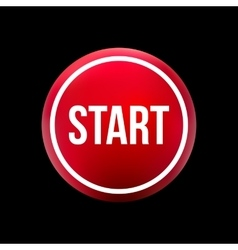 Red button start vector