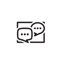 Discussion board icon business concept flat vector
