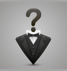 triangle jacket question vector image