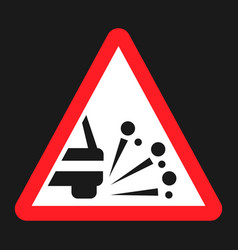 loose chippings and gravel flat icon vector image