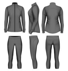 Womens sport wear for run vector