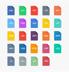 file type icon vector image