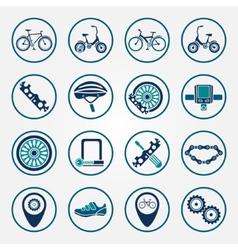 biking icon set vector image