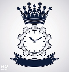 Clock with crown symbol vector