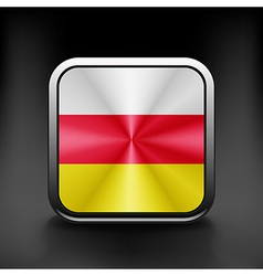 South ossetia icon flag national travel icon vector