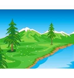 Landscape with mountain vector