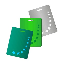 Starry cards set vector