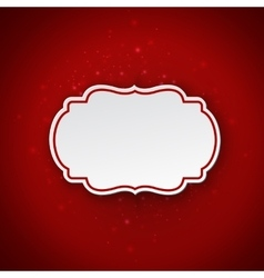 Christmas paper Cut out style with inner vector image