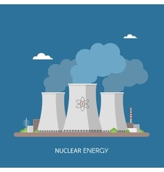 Nuclear power plant and factory energy industrial vector