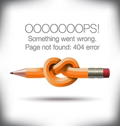 Pencil Knot 404 vector image