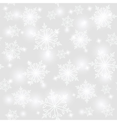 Abstract seamless snowflake background vector image