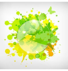 Advertising Glass Board With Color Blots vector image vector image
