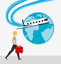 Airport concept design vector
