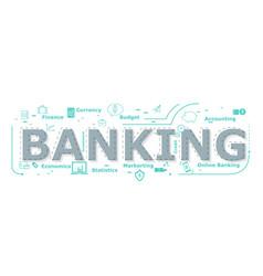 banking word desigh vector image