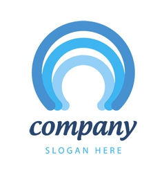 blue stripes logo vector image vector image