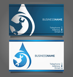 business card for repair of plumbing and sanitary vector image vector image