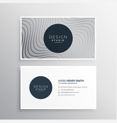 Business identity card template with abstract vector