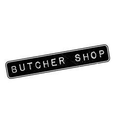 Butcher shop rubber stamp vector