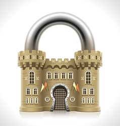 Castle Padlock vector image vector image