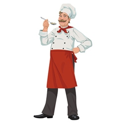 chef with spoon vector image vector image