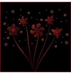 Christmas snowflakes vintage vector vector image