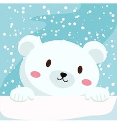 Close up polar bear vector