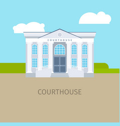 colored courthouse building vector image vector image