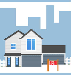 Colorful house concept for sale house flat icon vector