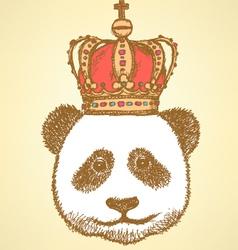 Crown Panda vector image vector image