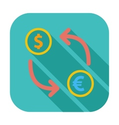 Currency exchange single flat icon vector