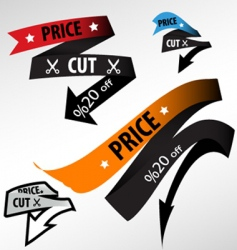 discount price tag vector image vector image