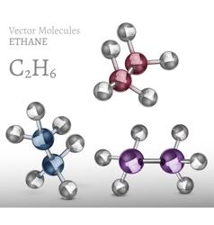 Ethane molecule set vector