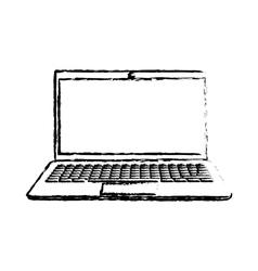 Laptop computer technology vector